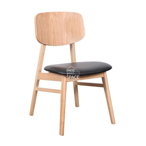 Gemma Chair - Natural/Black PU - Indoor Dining Chair - DYS Indoor