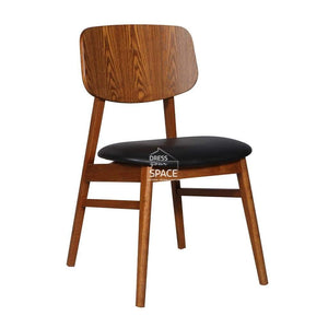 Gemma Chair - Teak/Black PU - Indoor Dining Chair - DYS Indoor