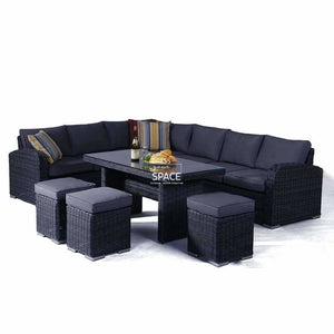 Geneva 6 Piece Lounge - Castle Grey - Outdoor Lounge - DYS Outdoor
