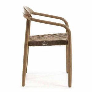 Glynis Chair - Beige Rope - Indoor Dining Chair - La Forma