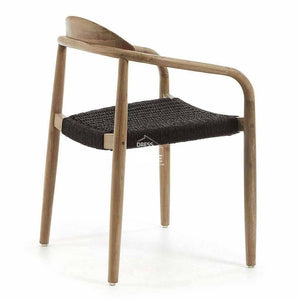 Glynis Chair - Dark Grey Rope - Indoor Dining Chair - La Forma