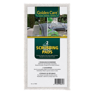 Golden Care -White Non-Wood Scrubbing Pads (Set of 2) - Furniture Care & Accessories - Golden Care