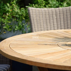 Hamburg Table + Built In Lazy Susan - Outdoor Table - Lifestyle Garden