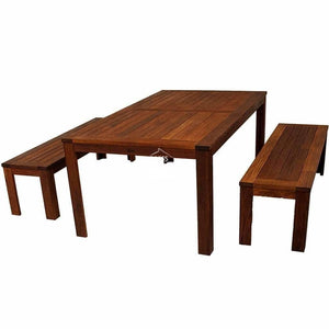 Harrison 3 Piece Merbau Bench Set - Outdoor Dining Set - DYS Outdoor