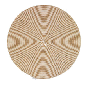 Hawaii 291 Cream Cotton/Jute Rug - Indoor Round Rug - Ghadamian