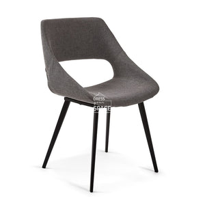 Hest Chair - Dark Grey Fabric - Indoor Dining Chair - La Forma