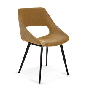 Hest Chair - Mustard Fabric - Indoor Dining Chair - La Forma