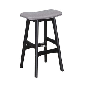 Jackie Stool - Black/Mushroom Fabric - Indoor Counter Stool - DYS Indoor