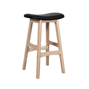 Jackie Stool - Natural/Black PU - Indoor Counter Stool - DYS Indoor