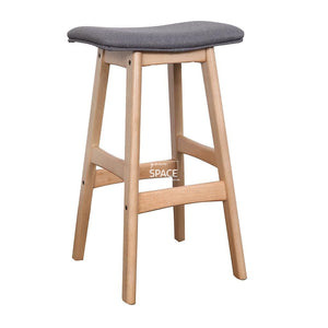 Jackie Stool - Natural/Truffle Fabric - Indoor Counter Stool - DYS Indoor