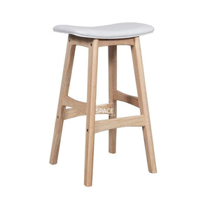 Jackie Stool - Natural/White PU - Indoor Counter Stool - DYS Indoor