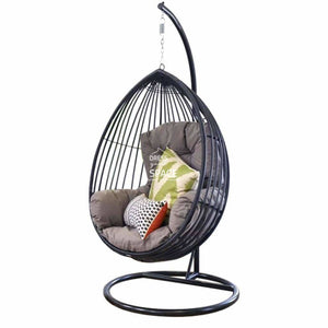 Jackson Egg Chair - Black - Outdoor Hanging Pod - DYS Outdoor