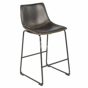 Karla Stool - Black Vintage PU - Indoor Counter Stool - DYS Indoor