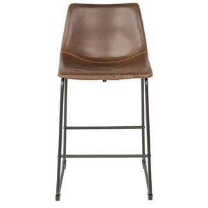 Karla Stool - Brown Vintage PU - Indoor Counter Stool - DYS Indoor