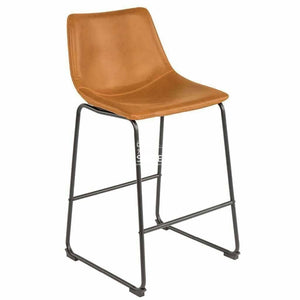 Karla Stool - Tan Vintage PU - Indoor Counter Stool - DYS Indoor