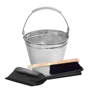 Kay Ash Bucket & Brush Set - Ash Bucket Kit - DYS Fireplace Accessories