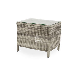 Lisbon Side Table - Zen White - Outdoor Side Table - DYS Outdoor