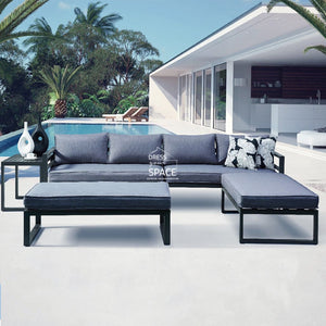 Long Beach Modular Lounge - Grey - Outdoor Lounge - DYS Outdoor