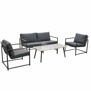 Mallorca 4 Piece Set - Charcoal - Outdoor Lounge - DYS Outdoor
