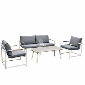 Mallorca 4 Piece Set - White - Outdoor Lounge - DYS Outdoor