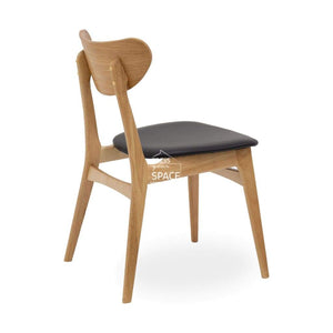 Martina Chair - Natural/Black PU - Indoor Dining Chair - DYS Indoor