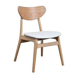 Martina Chair - Natural/White PU - Indoor Dining Chair - DYS Indoor