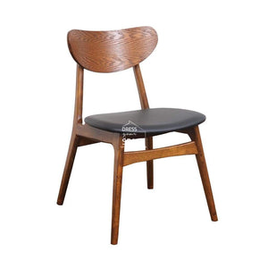Martina Chair - Teak/Black PU - Indoor Dining Chair - DYS Indoor