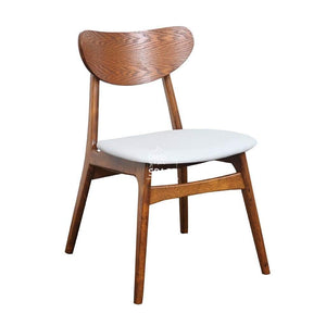 Martina Chair - Teak/White PU - Indoor Dining Chair - DYS Indoor