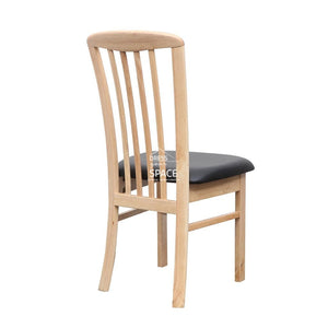 Mary Chair - Natural/Black PU - Indoor Dining Chair - DYS Indoor