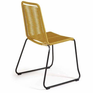 Meagan Chair - Mustard Rope - Indoor Dining Chair - La Forma