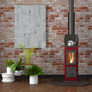 Milano Cook Top Wood Fireplace - Indoor Fireplace - Euro