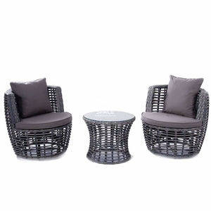 Monza 3 Piece Swivel - Grey - Outdoor Lounge Chair - DYS Outdoor