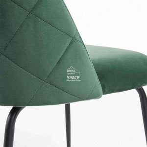Mystere Chair - Emerald Velvet - Indoor Dining Chair - La Forma