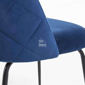 Mystere Chair - Navy Blue Velvet - Indoor Dining Chair - La Forma