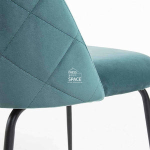 Mystere Chair - Teal Velvet - Indoor Dining Chair - La Forma