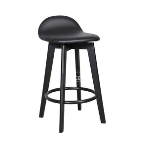 Nadia Stool - Black/Black PU - Indoor Counter Stool - DYS Indoor
