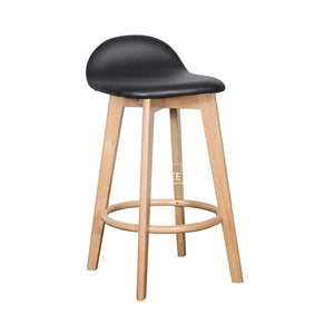 Nadia Stool - Natural/Black PU - Indoor Counter Stool - DYS Indoor