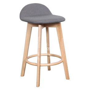 Nadia Stool - Natural/Truffle Fabric - Indoor Counter Stool - DYS Indoor