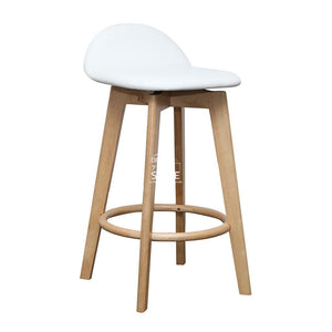 Nadia Stool - Natural/White PU - Indoor Counter Stool - DYS Indoor
