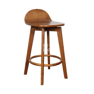 Nadia Stool - Teak/Teak Ash - Indoor Counter Stool - DYS Indoor