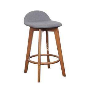 Nadia Stool - Teak/Truffle Fabric - Indoor Counter Stool - DYS Indoor