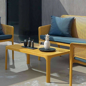 Net Coffee Table - White - Outdoor Coffee Table - Nardi