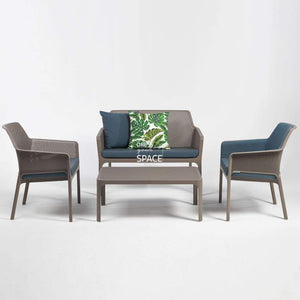 Net Relax 4 Piece Lounge - Taupe - Outdoor Lounge - Nardi