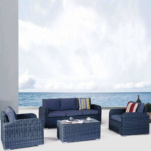 New Orleans 4 Piece Set - Castle Grey - Outdoor Lounge - DYS Outdoor