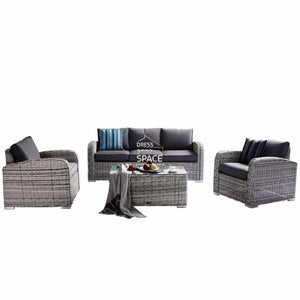 New Orleans 4 Piece Set - Zen White - Outdoor Lounge - DYS Outdoor