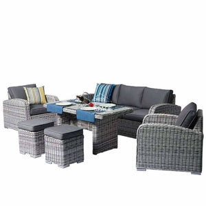 New Orleans 6 Piece Set - Zen White - Outdoor Lounge - DYS Outdoor