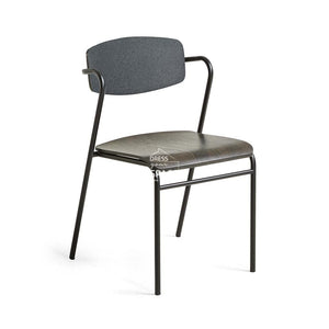 Norfort Chair - Black & Dark Grey - Indoor Dining Chair - La Forma