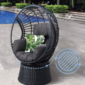 Reno Swivel Chair - 2 Colours - Outdoor Swivel Pod - DYS Outdoor