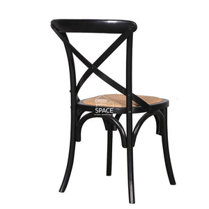 Rosa Chair - Shabby Chic Black - Indoor Dining Chair - DYS Indoor
