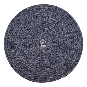 Round Woven Cotton Placemat - Blue White - Placemat - DYS Homewares